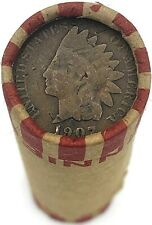 Indian Head Penny on Rare Wheat Cent Roll! Rare OLD US Coins Mixed Dates Pennies