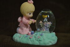 "Precious Moments 1997 ""Girl with Hen Egg Shaped Waterball"" Figurine 960225"
