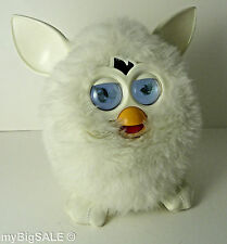 Hasbro Furby 2012 White Marshmallow Yeti LCD Eyes Interactive Talk Working RARE