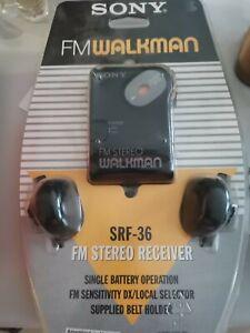 Vintage Sony Walkman SFR-36 New With Packaging Original