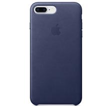 Midnight Blue Apple iPhone 8/7 Plus Genuine Original Leather Case Cover