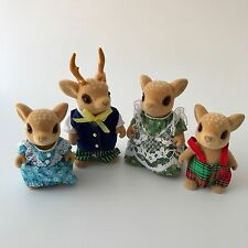 Sylvanian Families The Moss Reindeer Family RARE Retired Figures (a)