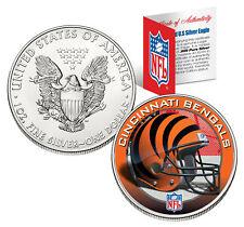 CINCINNATI BENGALS 1 Oz American Silver Eagle $1 US Coin Colorized NFL LICENSED