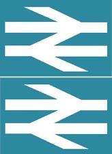 BR British Rail double arrow devils hoofprint logo - decal sticker 2 off 10x6cm