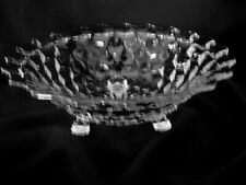 Large Collectible Vintage American Pattern Pressed Glass Footed Serving Bowl