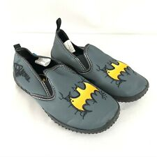 Batman Toddler Boys Water Shoes Fabric Slip On Gray Size 12