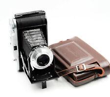 Vintage Voightlander Bessa I Folding Camera W/ Vaskar 105mm Lens and Case