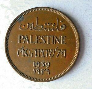 1939 PALESTINE MIL - AU - Excellent Hard to Find Coin - Lot #L18