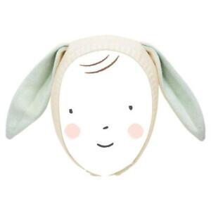 MERI MERI SPRING Mint Bunny Knitted Organic Cotton Baby Bonnet