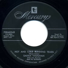 """SARAH VAUGHAN 45:  """"Hot and Cold Running Tears / That's Not the Kind..."""" 1956 EX"""