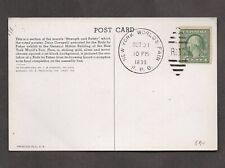 US #490 Rotary Coil Stamp On Picture Postcard Duplex Cancel, NY World's Fair RPO