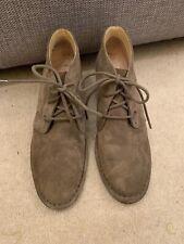 Women's Clarks Khaki Suede Ankle Desert Shoe Boots Size 5.5 / 39 WORN ONCE