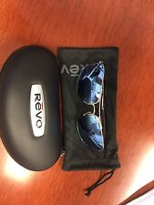Revo Ground Speed Polarized Men's Silver/Blue Sunglasses Authentic