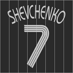 Shevchenko 7. Chelsea Third football shirt 2006 - 2007 FLEX NAMESET NAME SET