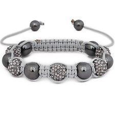Iced Out Unisex Bracelet - STRONG SHAMBALLA gris