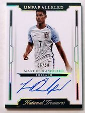 2018 NATIONAL TREASURES MARCUS RASHFORD AUTO /50 SILVER! UNPARALLELED * ENGLAND!