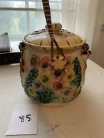 Vintage Flower Basket Cookie Jar Lot 85