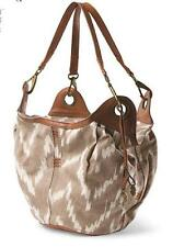 NWT $118 Lucky Brand Large Bali Hai Bucket Shoulder Bag Oyster