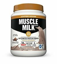New listing Muscle Milk Coffee House Caffeinated Protein Powder Mocha Latte 32g Protein 1...