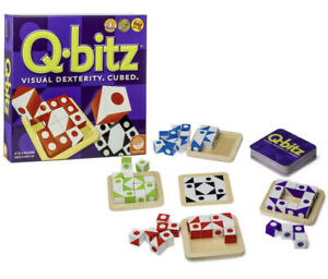Q-Bitz Visual Dexterity Cubed Logic Game Individual Wooden Replacement Cube/Tray