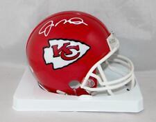 Joe Montana Autographed Kansas City Chiefs Mini Helmet- JSA Witnessed Auth *Whit