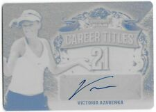 VICTORIA AZARENKA 2018 Leaf Grand Slam Tennis Career Titles Auto Black Plate 1/1