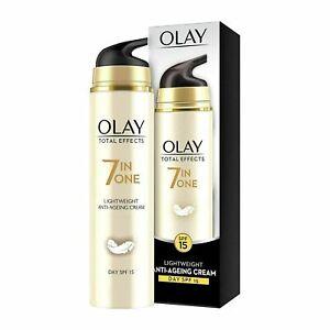 Olay Day Cream Total Effects 7 in 1 Anti-Ageing Lightweight Moisturiser SPF 15,