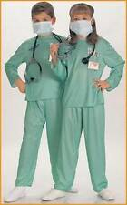 Kids Doctor Costume Scrubs Dress Up Kit Emergency Room Green Unisex Size M NEW