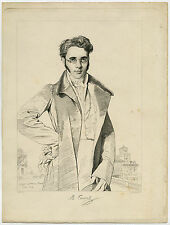 Antique Master Print-PORTRAIT-ANDRE BENOIT BARREAU TAUREL-Ingres-Taurel-1819