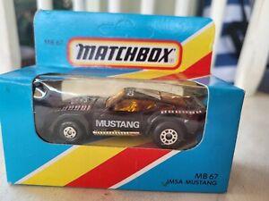 MATCHBOX - IMSA MUSTANG [BLACK] NEAR MINT VHTF BOX GOOD MACAU COMBINED POSTAGE