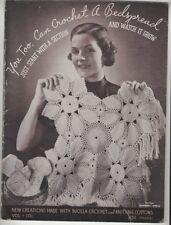 New listing Vintage Bedspread Crocheting Instruction Booklet Vol. 101 1935