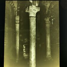 Antique Magic Lantern Glass Slide Photo Crypt Of Lemme Como C1900