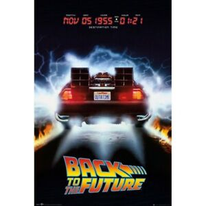 BACK TO THE FUTURE Original Official Movie Poster 1989 Delorean 1 Sheet New