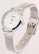 Damen Uhr Armbanduhr silber klein