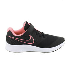 New Nike Star Runner 2.0 PSV Girls Athletic Shoes Size 2 Youth Black/pink