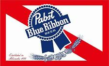 Pabst Blue Ribbon Beer Flag 3' x 5' Deluxe Party Decoration Banner Usa Seller
