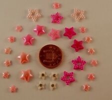 3d Nail Art Pink  Pearl Shaped Stars,Craft/Card Wedding  Decoration - #ST-P-033