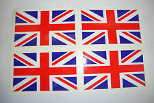4 ENGLAND FLAG STICKERS  UNION JACK UK MOTORBIKE HELMET IOM TT GB CAR BUMPER