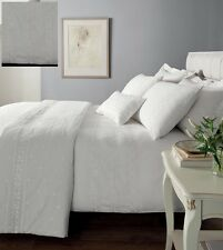 blanc percale brodé housse couette simple Literie Ensemble lit - Windsor