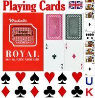 ROYAL PLAYING CARDS 100% PLASTIC POKER BUY 1 GET 1 FREE! BLACKJACK,RUMMY & ETC.