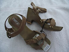 BNWT Ladies Sz 7 Rivers Brand Gorgeous Light Brown High Heel Sandals RRP $50