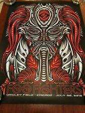 2018 Foo Fighters Wrigley Field Poster Jeff Wood 7/30, 91/200