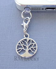 TREE OF LIFE cell phone Charm Anti Dust proof Plug ear cap jack For iPhone C39