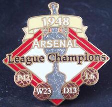 Los pines 1948 campeones de liga Arsenal la victoria insignia de Danbury Mint 36 Mm x 36 mm