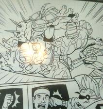 TMNT comic original art LOOK !! Carmelo Anthony #1 pg 13 w 4 Turtles too!