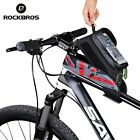 RockBros Cycling Frame Bag Waterproof Touch Screen Easy Bike Front Tube Bag