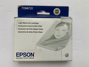 Epson T034720 Light Black Ink Cartridge for Stylus Photo 2200 New Sealed