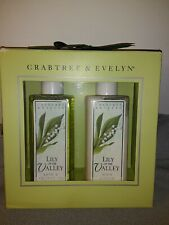 Crabtree & Evelyn Lily of the Valley Bath & Shower Gel 6.8 oz&Body Lotion 6.8 oz
