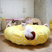 Foldable Pet Mat Tunnel Mat Pet Kitten Tunnel Suede Tubes Play Mat Scratch