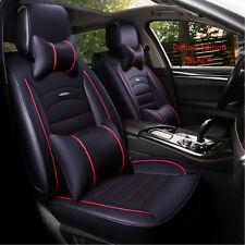 5 Seats Front Rear Car SUV Seat Cover Cushion Protector PU Leather Rear Split AU